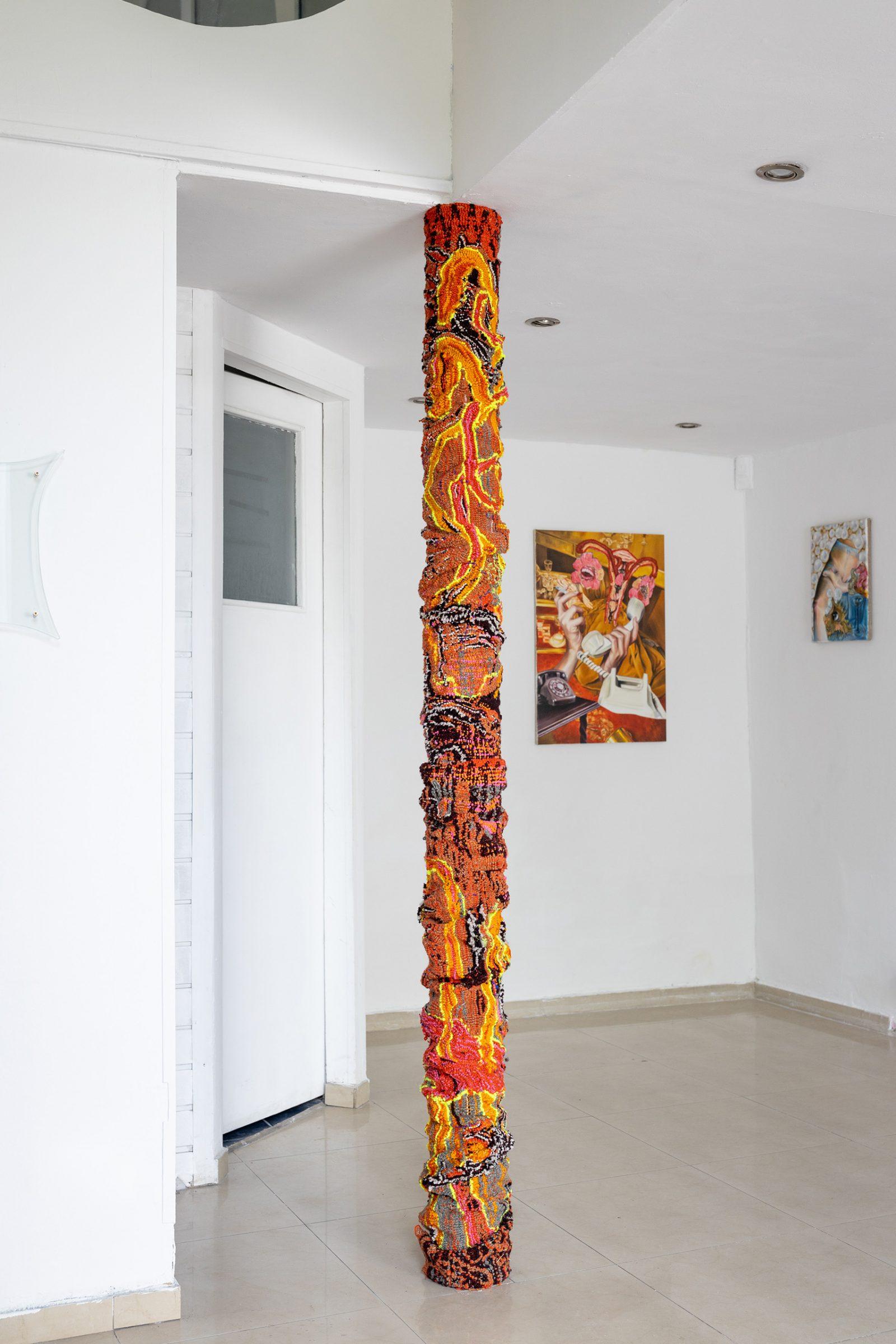 ↑ Marta Niedbał,<br> <em>Salon odnowy magicznej</em> – widok wystawy, 2021, <br>Galeria Widna